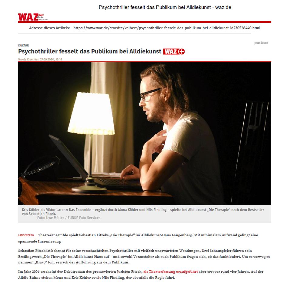Zum Bericht der Westdeutschen Zeitung